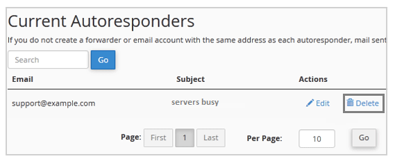 remove Autoresponder