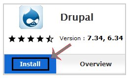 Install Drupal via Softaculous