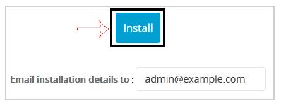 Install WordPress via Softaculous