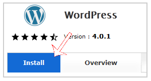 Install WordPress via Softaculous